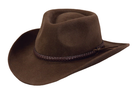Outback Trading Co. Dusty Rider Mens Hat Brown Australian Wool UPF50