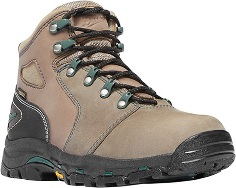 Danner Vicious Womens Brown/Green Leather 4in CT Work Boots