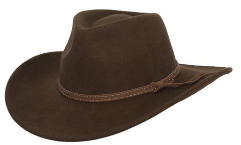 Outback Trading Co. Copper River Mens Hat Brown Australian Wool UPF50