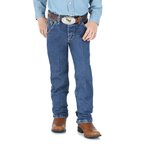 Wrangler Boys Stone Denim 100% Cotton Cowboy Cut Jeans