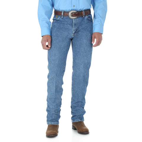 Wrangler Mens Stone Wash 100% Cotton George Strait Cowboy Cut Jeans