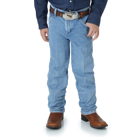 Wrangler Boys Stonebleach 100% Cotton Cowboy Cut Jeans