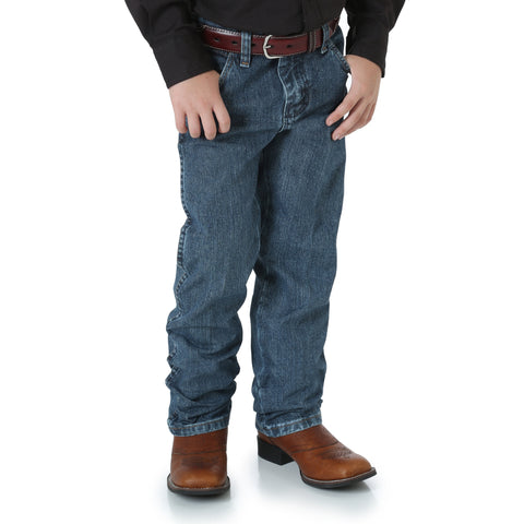 Wrangler Boys Subtle Worn 100% Cotton Cowboy Cut Jeans