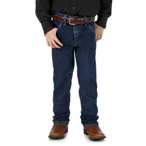 Wrangler Boys Dark Indigo 100% Cotton Cowboy Cut Jeans