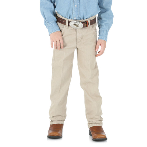 Wrangler Boys Prewashed Tan 100% Cotton Cowboy Cut Jeans