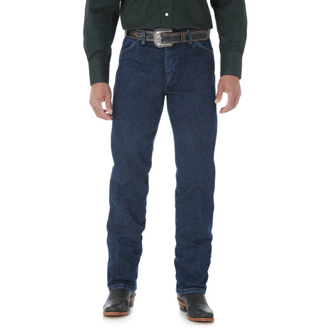 Wrangler Mens Dark Stone 100% Cotton Cowboy Cut Jeans