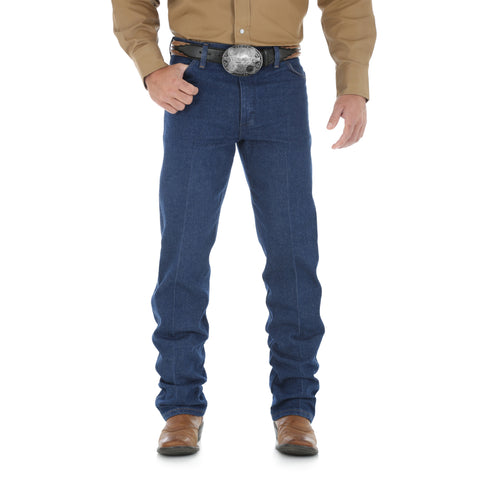 Wrangler Mens Prewashed Indigo 100% Cotton Cowboy Cut Jeans