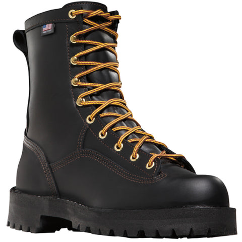 Danner Rain Forest 8in Mens Black Leather Goretex EH Work Boots 14100