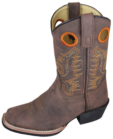 Smoky Mountain Boots Children Boys Memphis Brown Faux Leather Cowboy