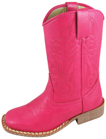 Smoky Mountain Boots Youth Girls Amarillo Raspberry Faux Leather Cowboy