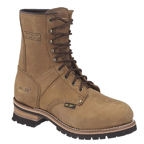 AdTec Mens Brown 9in Logger Crazy Horse Leather