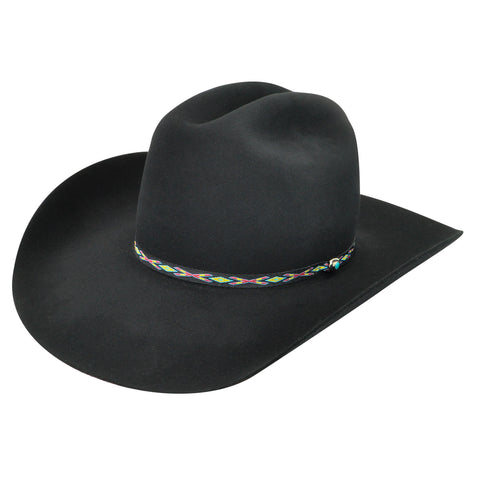 Bailey Bridger Black Unisex Felt Western Hat Tall Center Crease