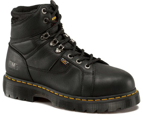 Dr Martens Black Unisex Ironbridge Im ST Grizzly Leather Work Boots