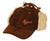 Outback Trading Co. McKinley Mens Trapper Hat Brown Leather 6 Panel Fleece