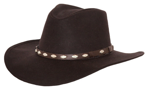 "Outback Trading Co. Badlands Mens Hat Brown 100% Cotton UPF50 4"" Oilskin"