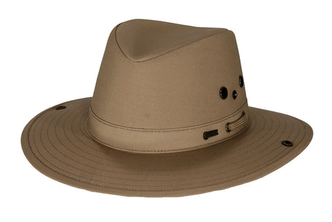 Outback Trading Co River Guide Mens Hat Sand Cotton Blend Chin Strap