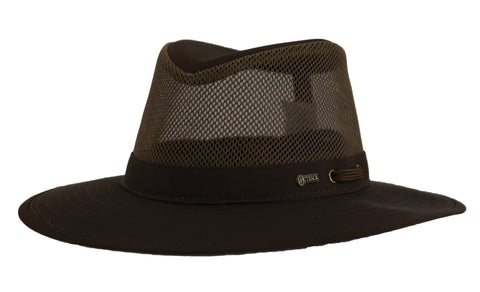 Outback Trading Co River Guide Mesh II Unisex Hat Dark Brown Cotton Blend