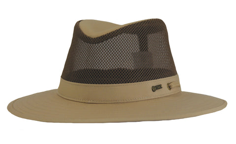 Outback Trading Co River Guide Mesh II Unisex Hat Sand Cotton Blend UPF 50