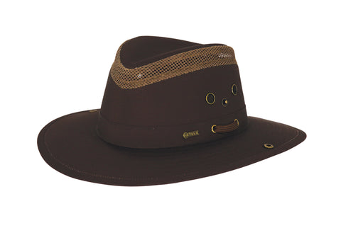 Outback Trading Co Mariner Unisex Hat Dark Brown Cotton Blend UPF 50