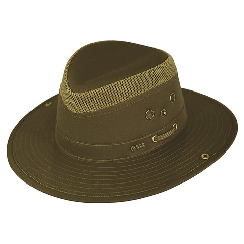 Outback Trading Co Mariner Mens Hat Olive Cotton Blend UPF 50 Waterproof