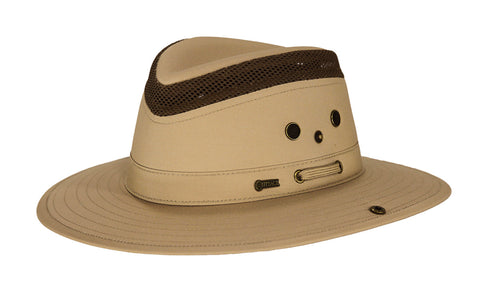 Outback Trading Co Mariner Mens Hat Sand Cotton Blend UPF 50 Waterproof