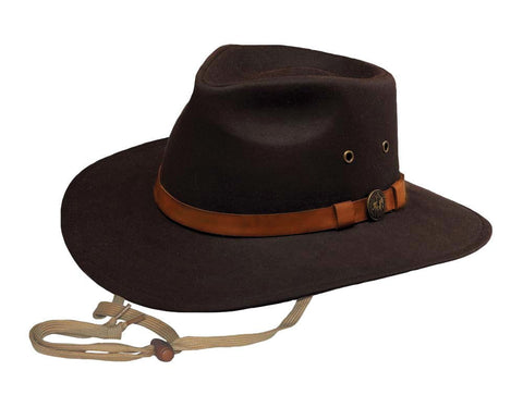 Outback Trading Co. Kodiak Mens Hat Brown 100% Cotton Oilskin Waterproof