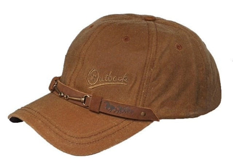 Outback Trading Co. Equestrian Cap Mens Hat Field Tan Cotton Oilskin 6 Panel