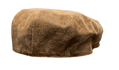 Outback Trading Co Ascot Cap Unisex Hat Brown Leather Newsboy