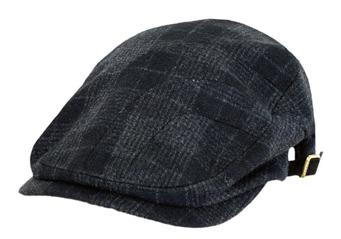 Outback Trading Co Bushwick Cap Mens Hat Blue Wool Blend Plaid