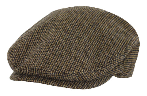 Outback Trading Co Hyland Cap Mens Hat Brown Wool Blend Houndstooth
