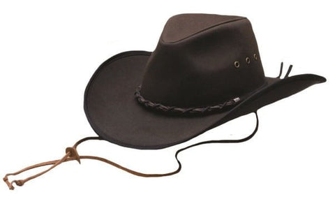 Outback Trading Co. Bootlegger Mens Hat Brown 100% Cotton Oilskin Waterproof