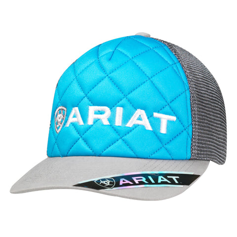 Ariat Blue/Grey Polyfoam Mens Signature Logo Baseball Cap