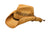 Outback Trading Co. Brumby Rider Straw Mens Hat Tea Raffia Shapeable Brim