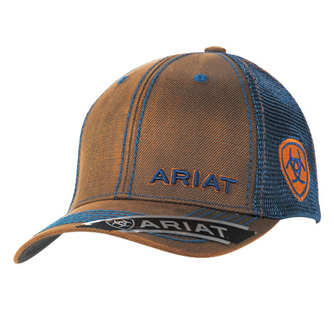 Ariat Navy Oilskin Mens Logo Baseball Cap