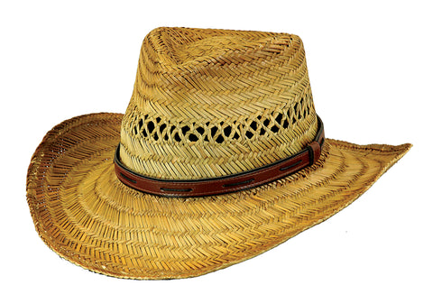 Outback Trading Co Chesapeake Mens Hat Tea Rush Straw UPF