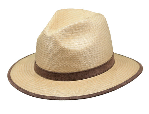 Outback Trading Co Grand Canyon Mens Hat Gold Paper Straw UPF