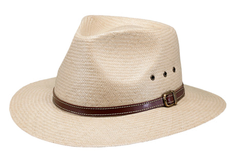 Outback Trading Co Birmingham Mens Hat Gold Paper Straw UPF