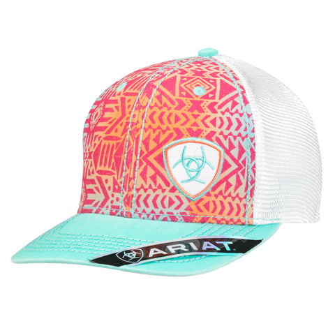 Ariat Multi-Color Cotton Womens Brilliant Logo Baseball Cap