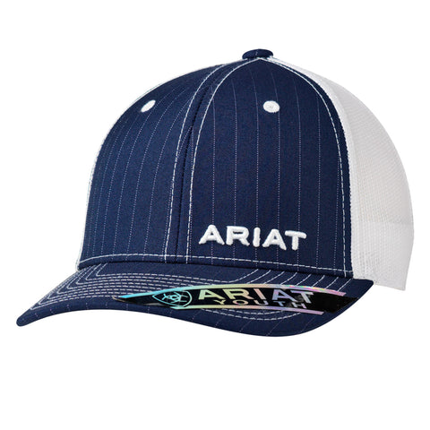 Ariat Navy Youth Pinstripe Logo Baseball Cap