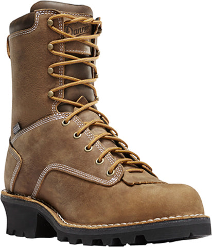 Danner Logger Mens Brown Leather 8in EH Work Boots