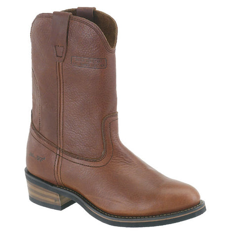 AdTec Mens Reddish 12in Ranch Wellington Soft Toe Leather Work Boots