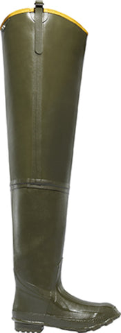 Lacrosse Marsh Mens 00 Green Rubber 32in Hip Hunting Boots