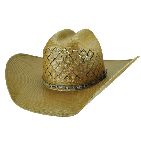 Bailey Ruger II Putty Unisex Straw Western Hat Cattleman 15X