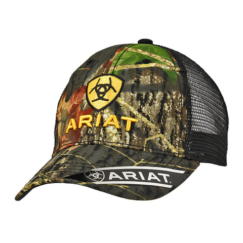 Ariat Mossy Oak Mens Snap Back Baseball Cap
