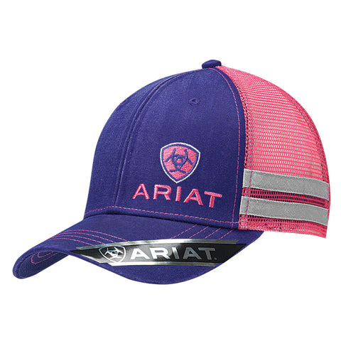 Ariat Purple/Pink Womens Shield Logo Baseball Cap