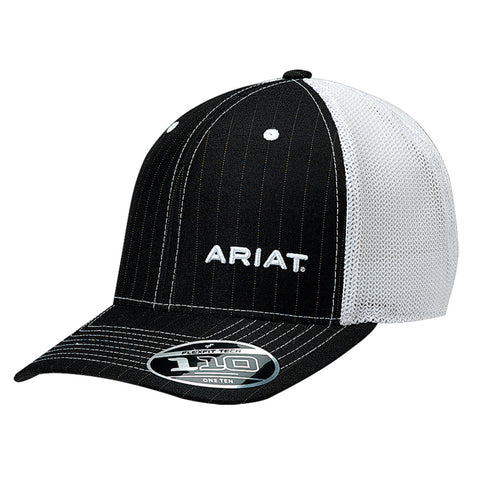Ariat Black/White Mens FlexFit Mesh Baseball Cap