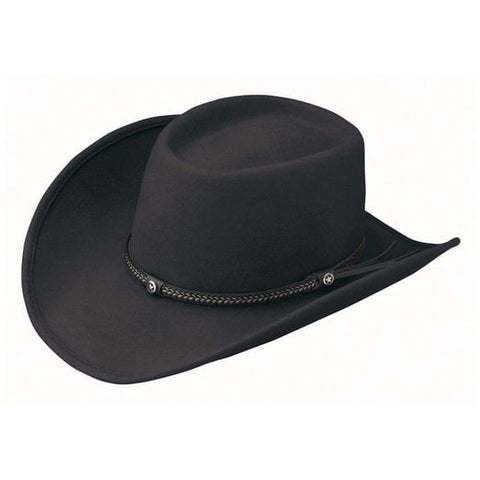 Outback Trading Co. Durango Mens Hat Black Australian Wool UPF50