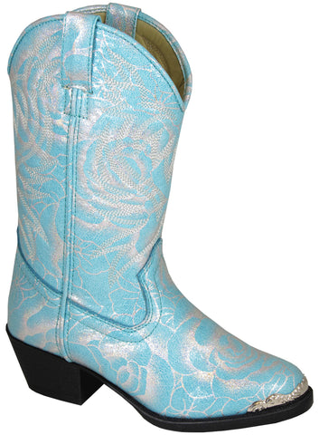 Smoky Mountain Boots Toddler Girls Lexie Blue/Silver Faux Leather
