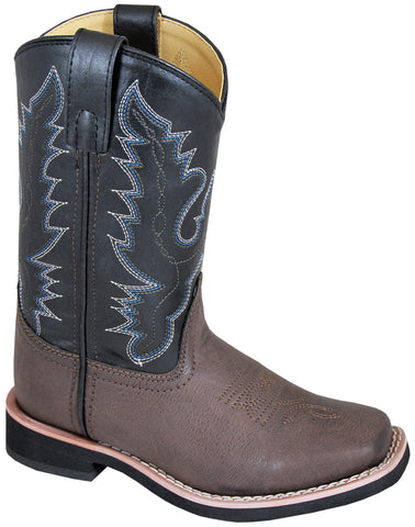 Smoky Mountain Boots Youth Boys Tyler Black/Brown Faux Leather