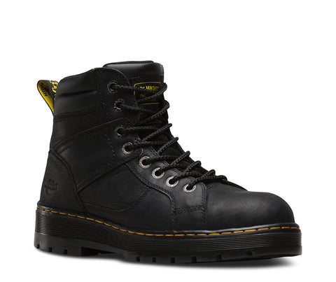 Dr Martens Black Unisex Duct ST Wyoming Leather Work Boots